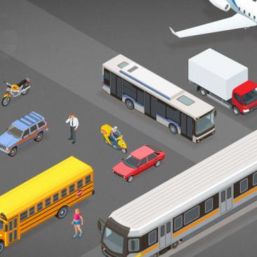 Meios de transporte em inglês e em espanhol