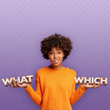"""Qual é a diferença entre """"what"""" e """"which""""?"""