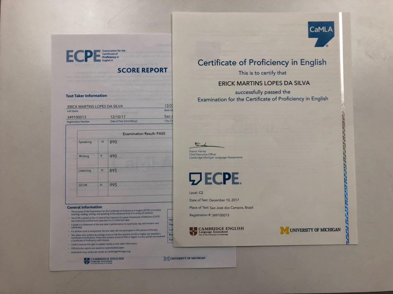 Fisk Caçapava/SP -  Aprovação C2 no Michigan ECPE