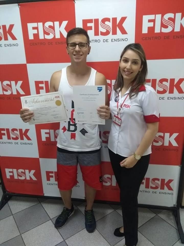 Fisk Caçapava/ SP - Entrega de certificados - maio 2018