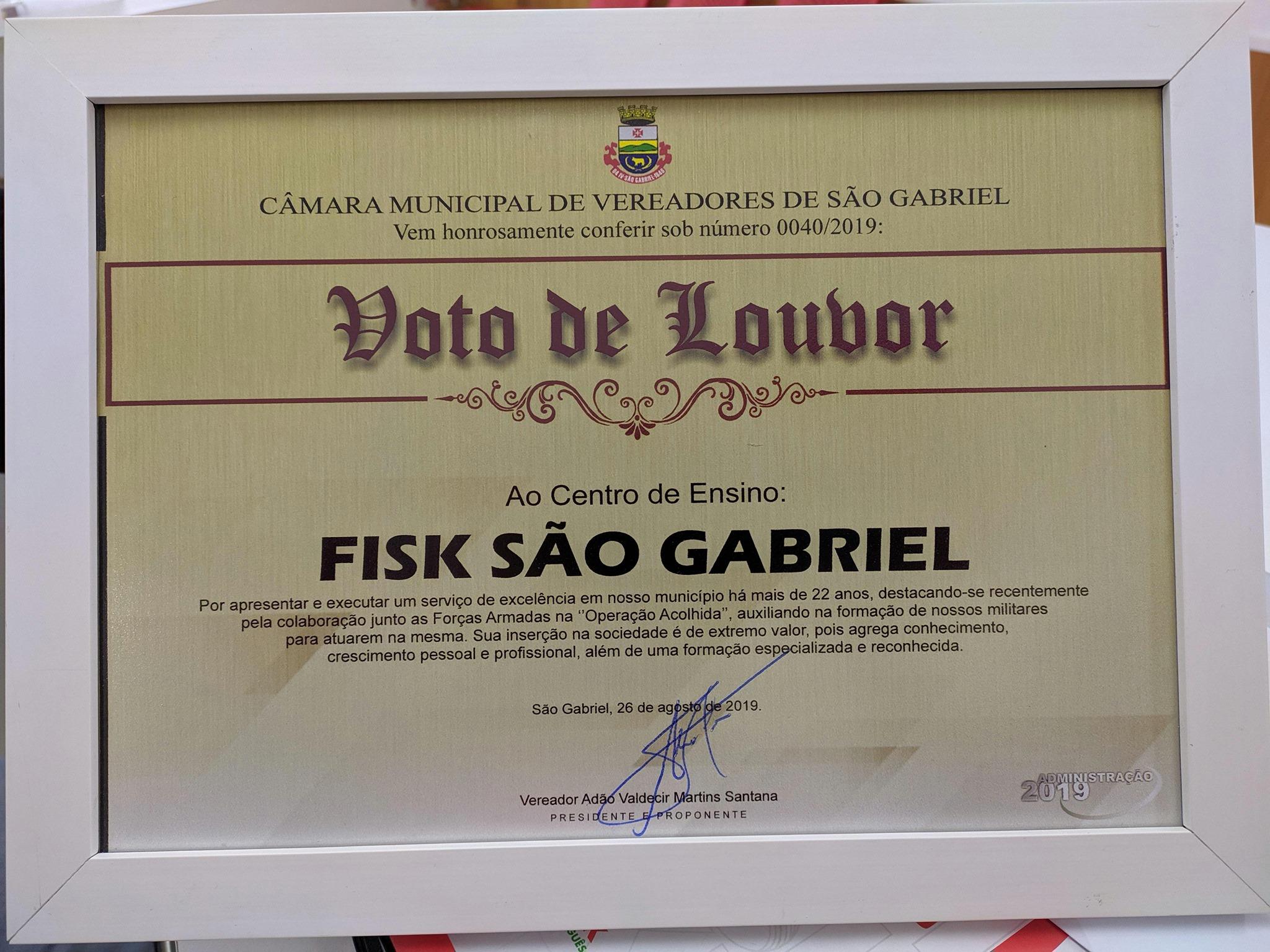 """Fisk São Gabriel/RS - """"Operação Acolhida"""""""