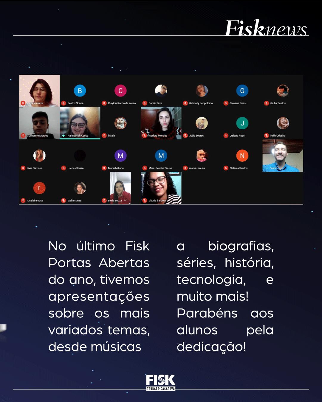 Fisk Caçapava e Taubaté/SP - Fisk Portas Abertas Online - 3rd Editio