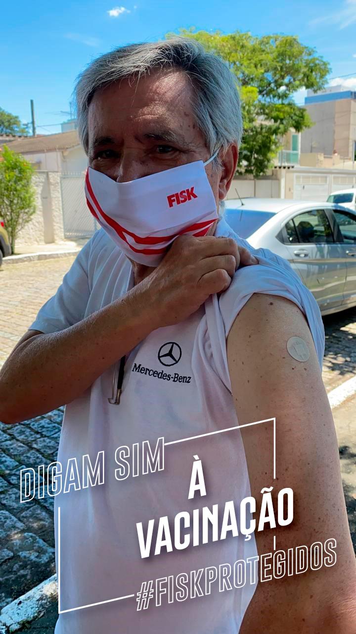 Bruno Caravati, Presidente da Fisk, tomou a vacina!