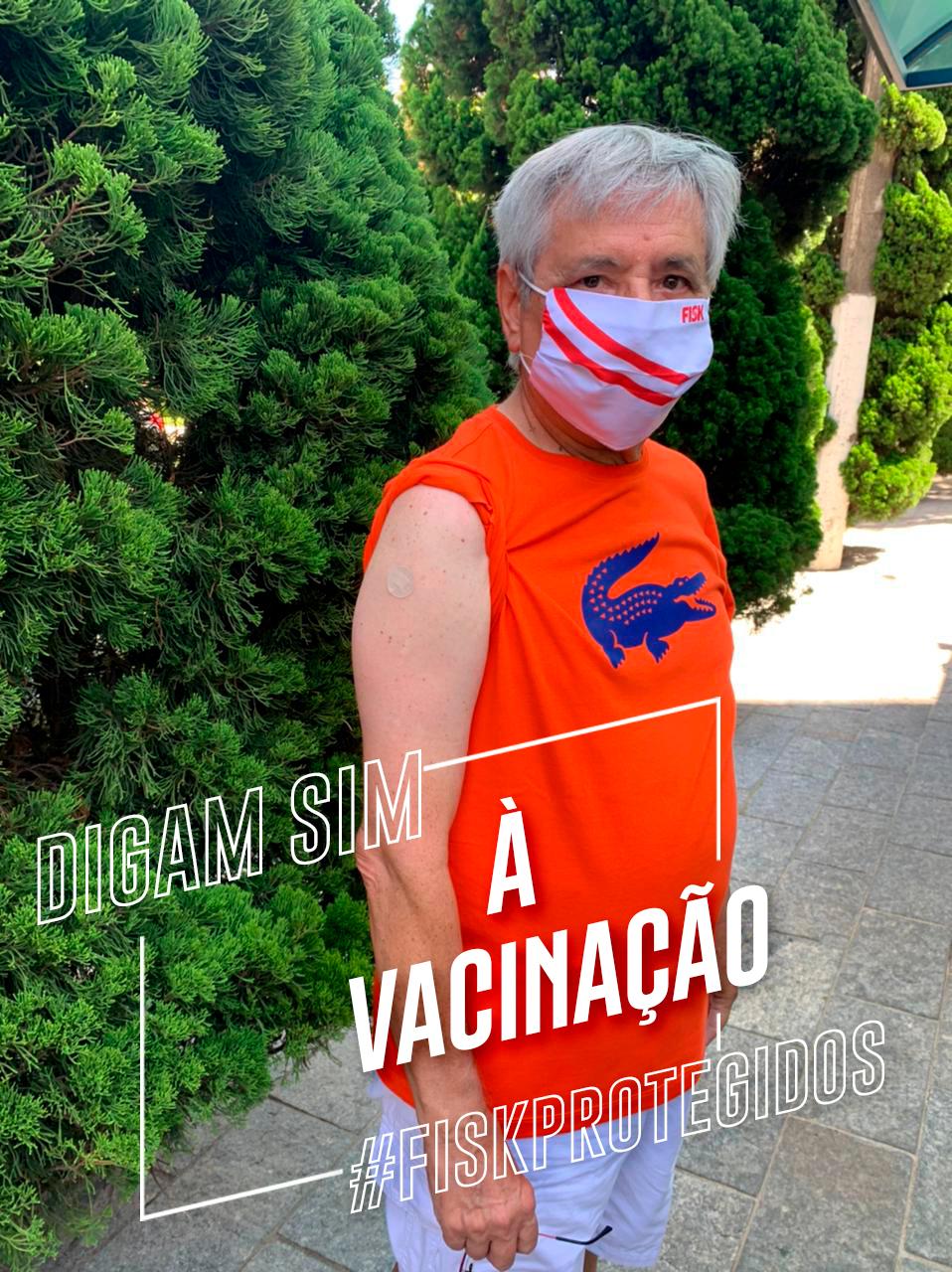 Bruno Caravati, Presidente da Fisk, tomou a 2º dose da vacina!